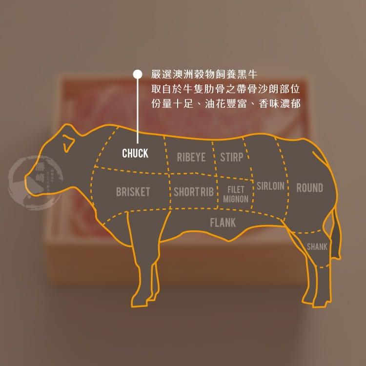 欣明◆澳洲S榖飼熟成戰斧牛排~超大神鬼尺寸(900g) 7