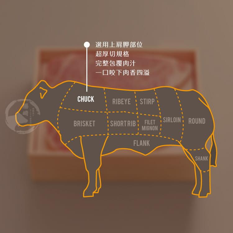 欣明◆美國和州牛超厚切PRIME熟成凝脂霜降牛排(300g) 6