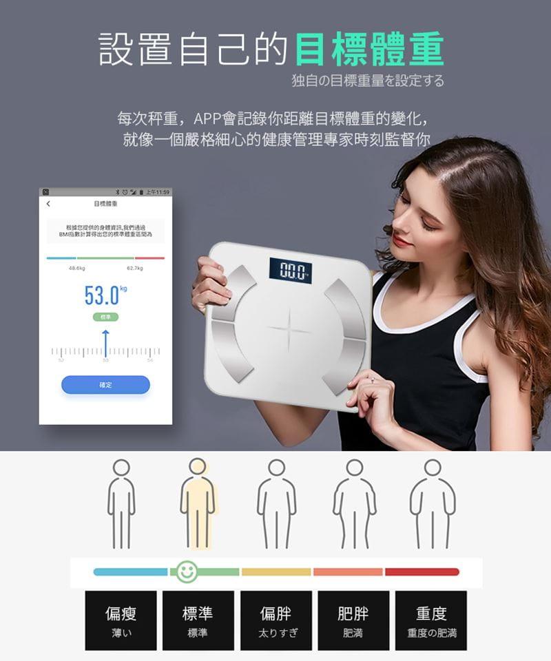 多合一智能LCD智能秤/體重計【玫瑰金/黑色/白色任選】 3