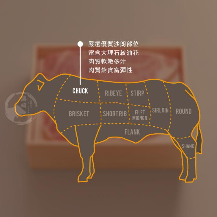 欣明◆澳洲日本種M9厚切老饕和牛沙朗(280g/1片) 7