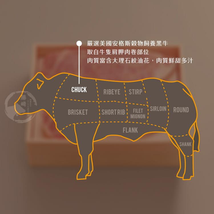 欣明◆美國安格斯雪花沙朗牛排~超厚切(450g/1片) 7