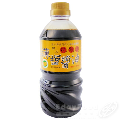 【屏大】非基改薄鹽醬油(560ml/瓶) 0