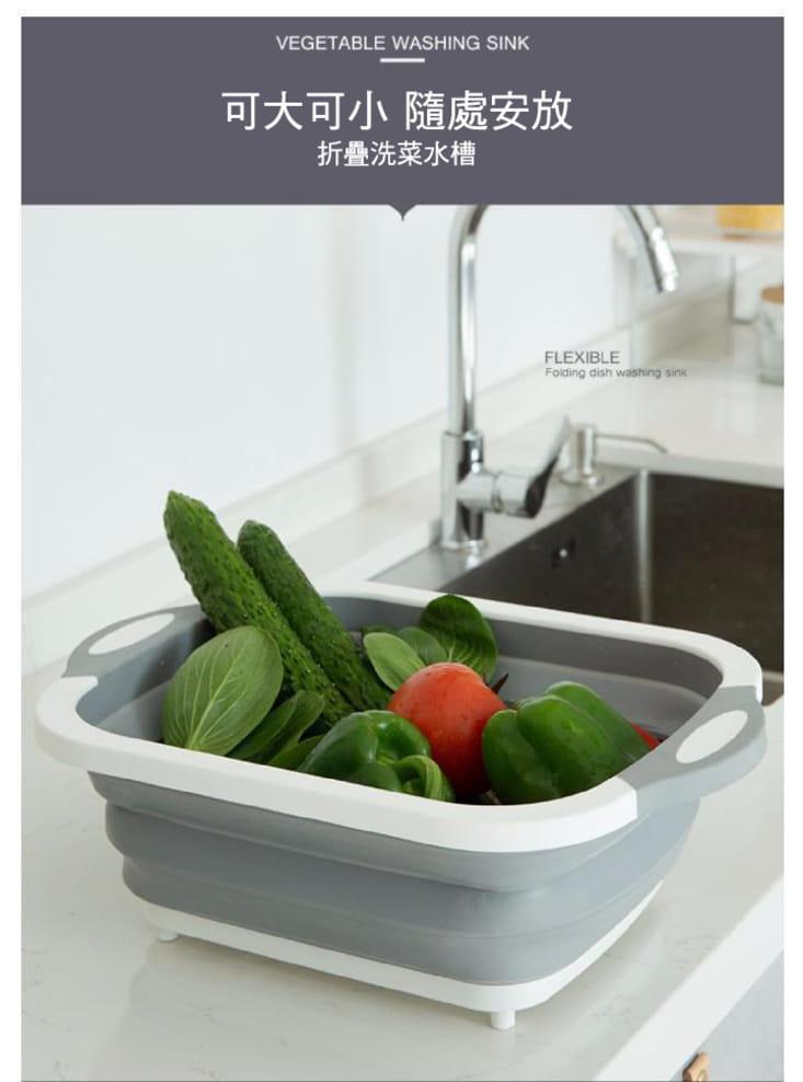 切菜瀝水二合一砧板(可收納) 2
