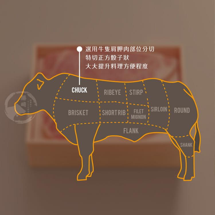 欣明◆美國安格斯藍帶梅花骰子牛(250g/1包) 6