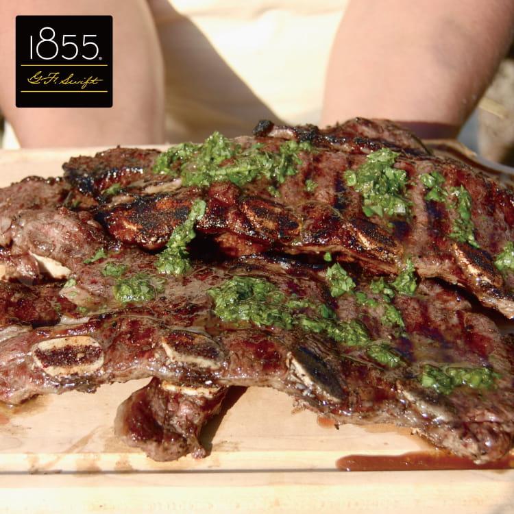 欣明◆美國1855黑安格斯熟成帶骨牛小排(150g/1片) 0