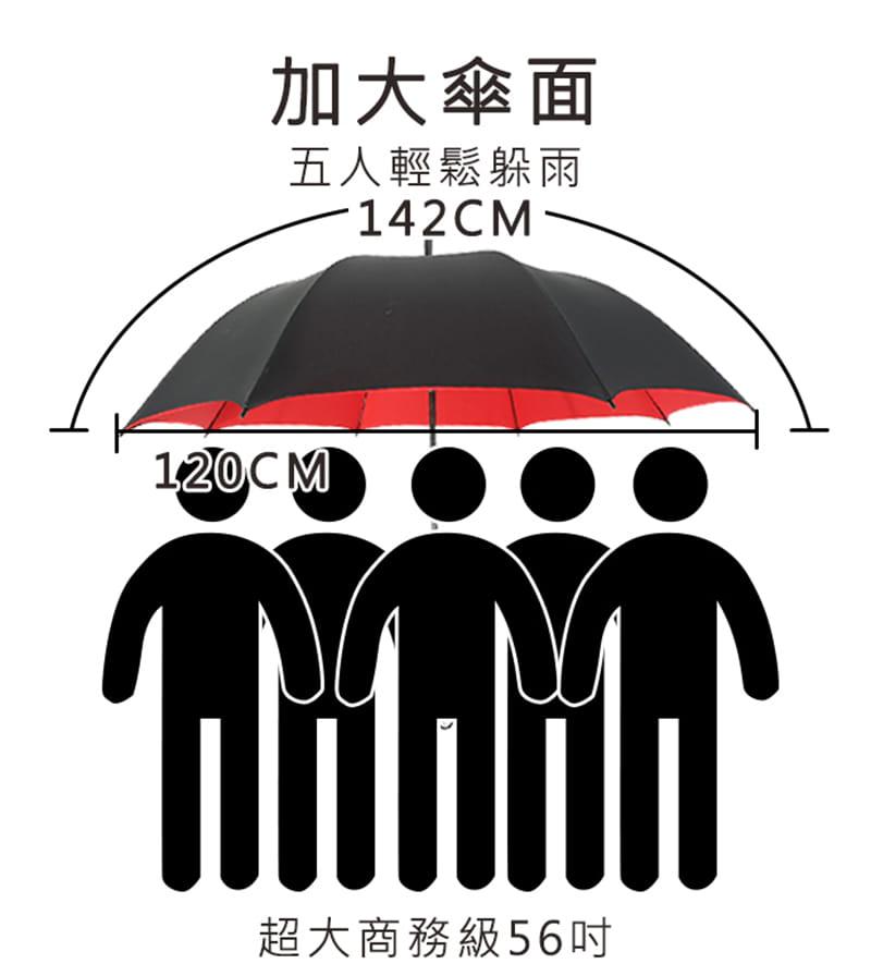 【TengYue】超級大商務自動開防風曬雨傘 6