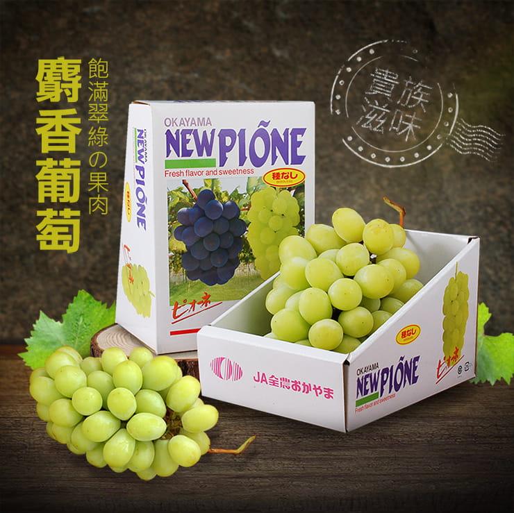 【築地一番鮮】日本空運頂級無籽麝香葡萄(約550g/串) 2