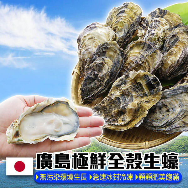 【百匯集】烤肉食材-日本全殼生蠔痛風組 1