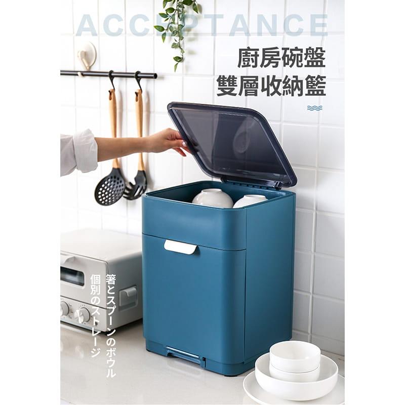 日本無印雙層碗盤瀝水架 1