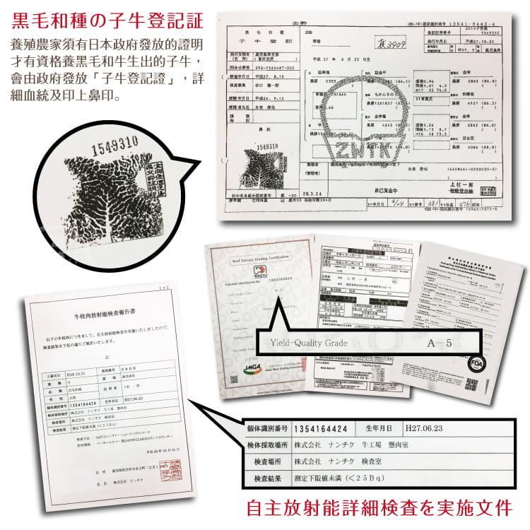 欣明◆日本A5純種黑毛和牛肋眼牛排(280g/1片) 6