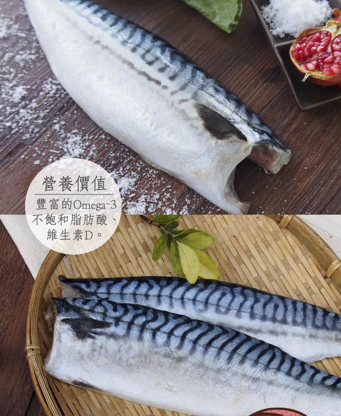 【百匯集】XXL挪威薄鹽鯖魚片 (實重)190g±10%/片 2