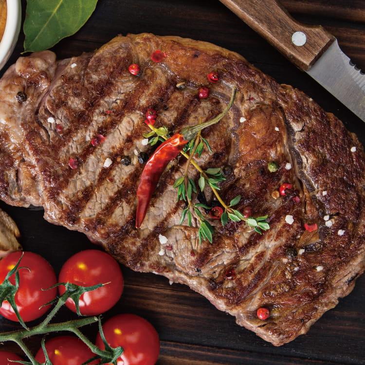 欣明◆美國安格斯雪花沙朗牛排~比臉大(450g/1片) 0