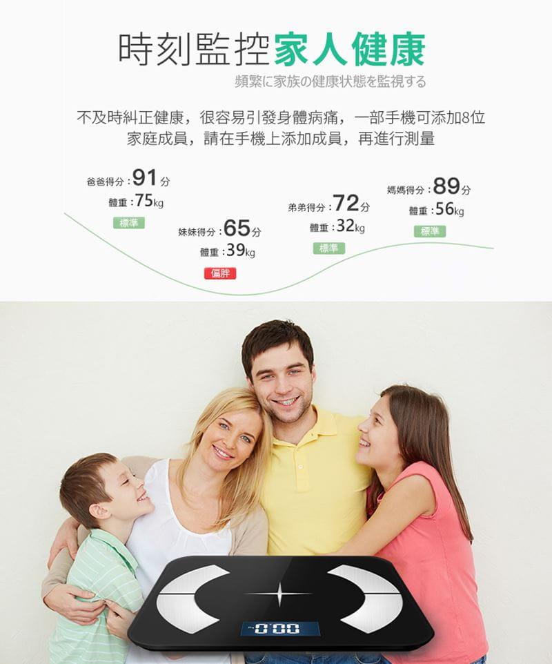 多合一智能LCD智能秤/體重計【玫瑰金/黑色/白色任選】 5
