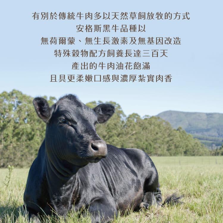 欣明◆澳洲安格斯黑牛厚切凝脂牛排(300g/1片) 5