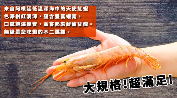 【海之金】阿根廷船凍L1天使紅蝦(1kg/盒) 2