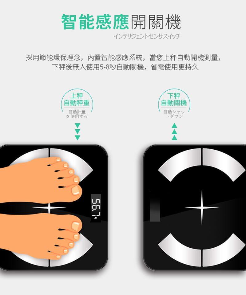 多合一智能LCD智能秤/體重計【玫瑰金/黑色/白色任選】 4