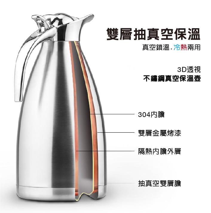 【DaoDi】雙層真空鎖溫304不鏽鋼保溫瓶 1.5L 2