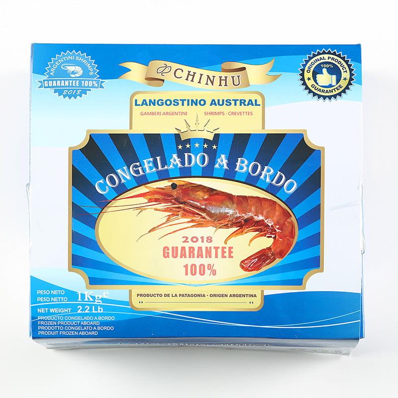 【海之金】阿根廷船凍L1天使紅蝦(1kg/盒) 7