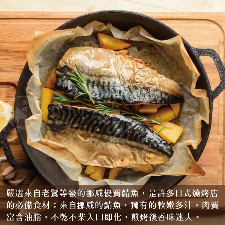 欣明◆挪威薄鹽鯖魚切片(150g/1片) 3