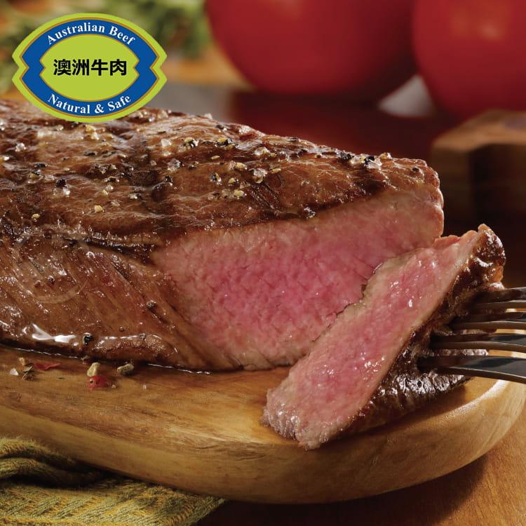 欣明◆澳洲安格斯黑牛厚切凝脂牛排(300g/1片) 0