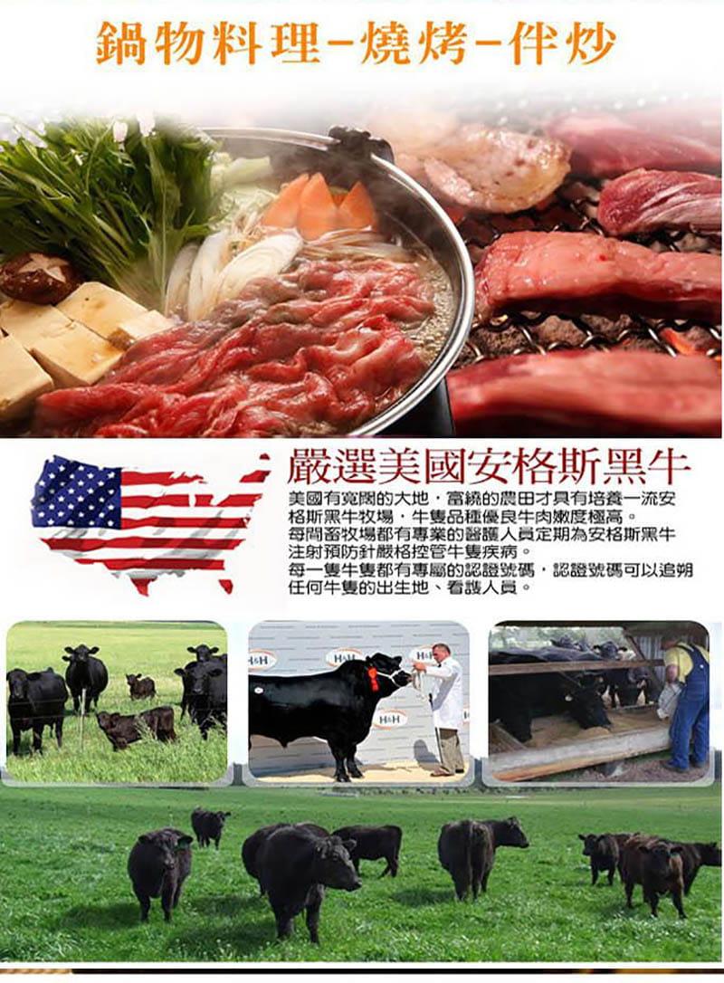 美國嚴選霜降牛肉片 2