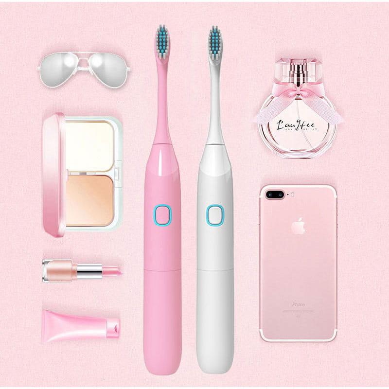 【買一送一】防水超聲波柔軟電動牙刷 3色任選(買再贈牙刷架) 14