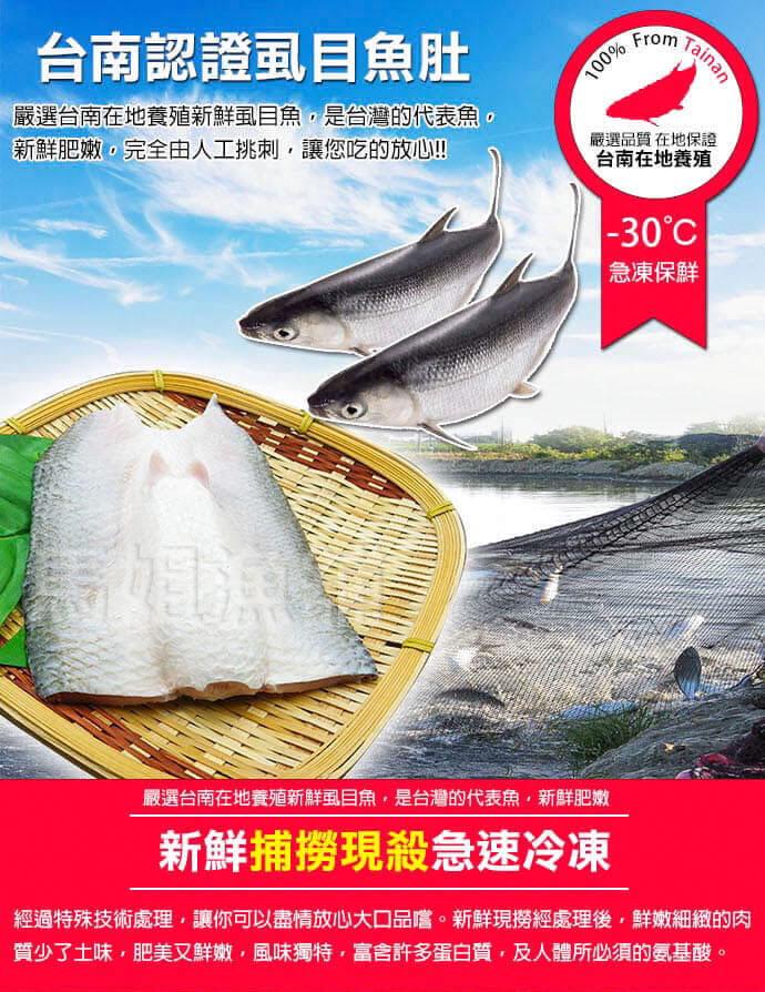 【百匯集】大規格去刺虱目魚肚(實重)195g±10%/片 1
