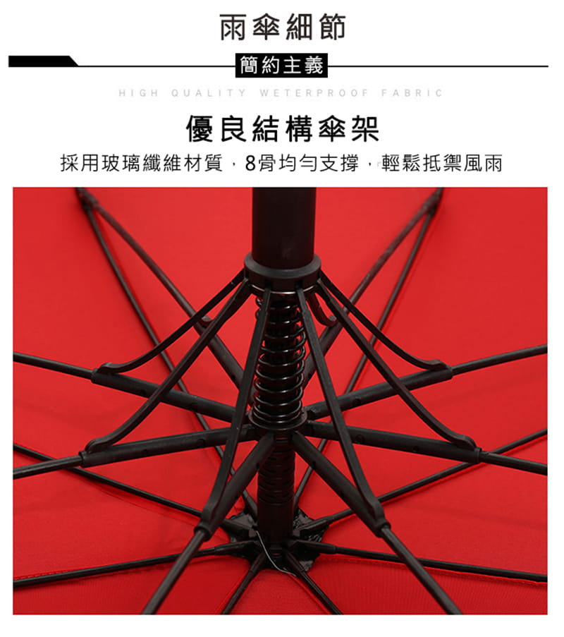 【TengYue】超級大商務自動開防風曬雨傘 8