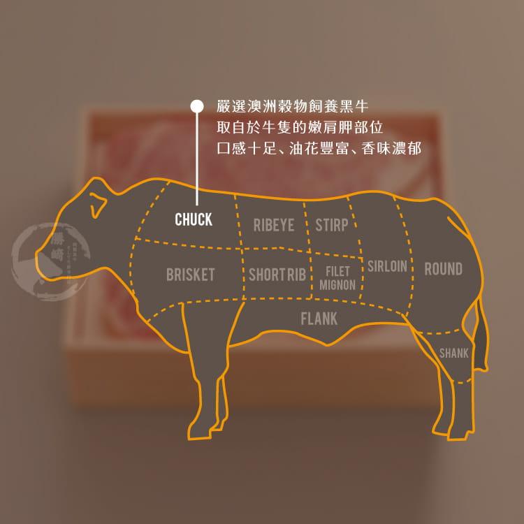 欣明◆澳洲黑牛濕式熟成超大沙朗牛排(450g/1片) 7