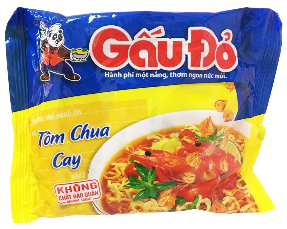 GAUDO酸辣蝦味麵 (64g/包) 1