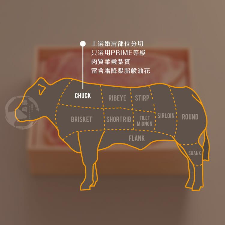 欣明◆美國奧羅拉極光黑牛PRIME霜降牛排(260g/1) 6