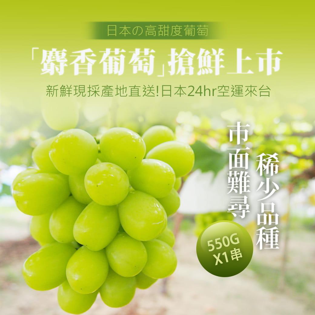 【築地一番鮮】日本空運頂級無籽麝香葡萄(約550g/串) 0