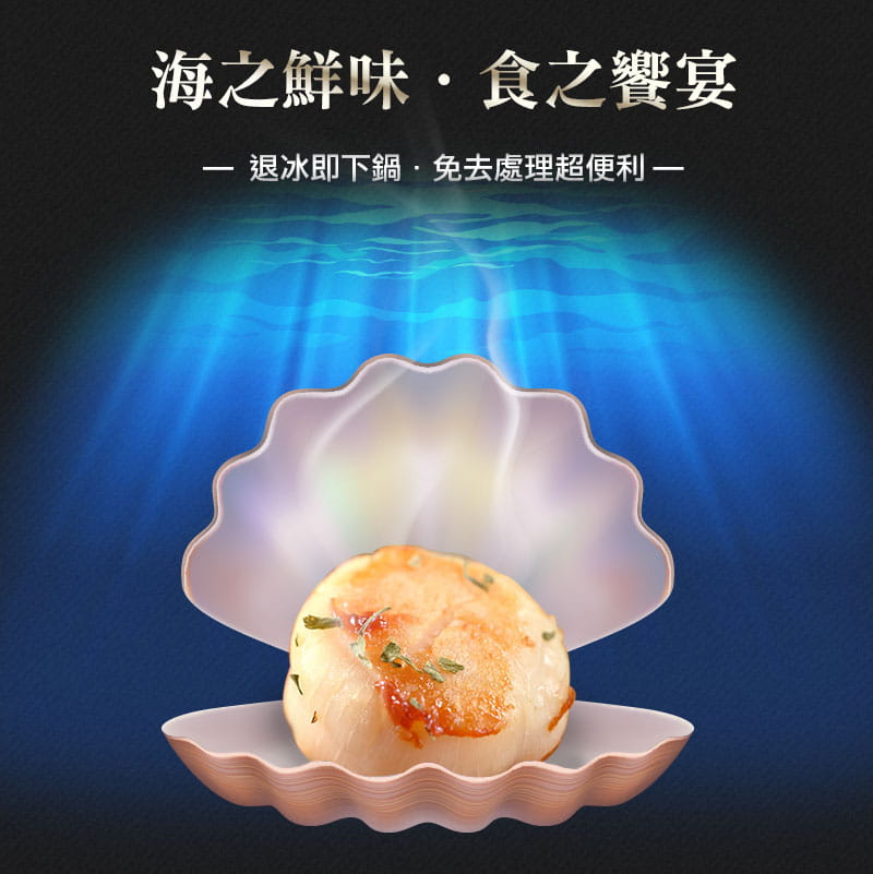 【愛上美味】北海道嚴選鮮甜大干貝 1