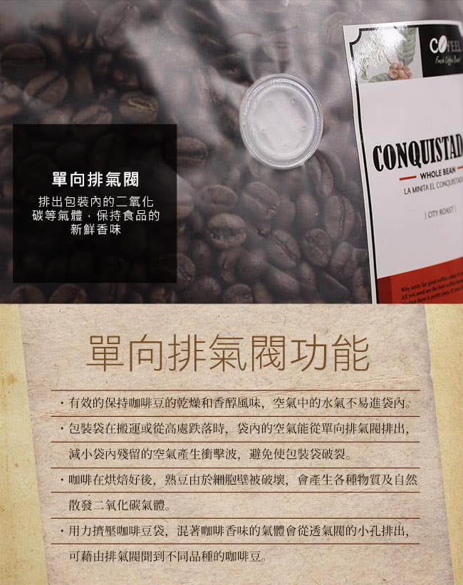 CoFeel 凱飛鮮烘豆哥斯大黎加征服者中深烘焙咖啡豆半磅 12