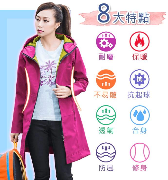 時尚多場合保暖防風外套 3