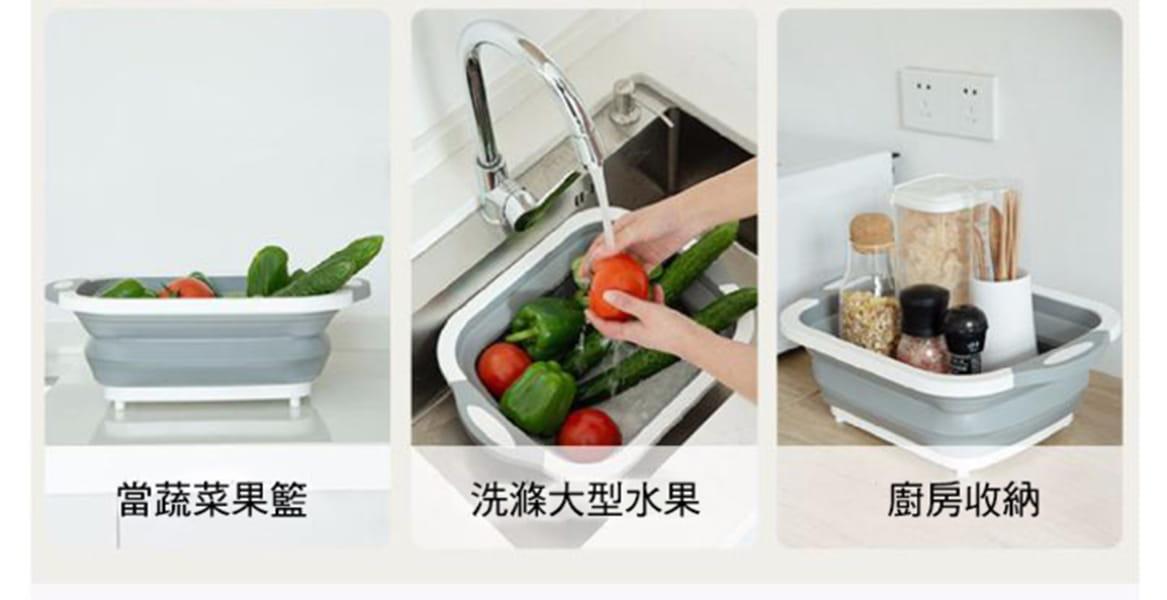 切菜瀝水二合一砧板(可收納) 11