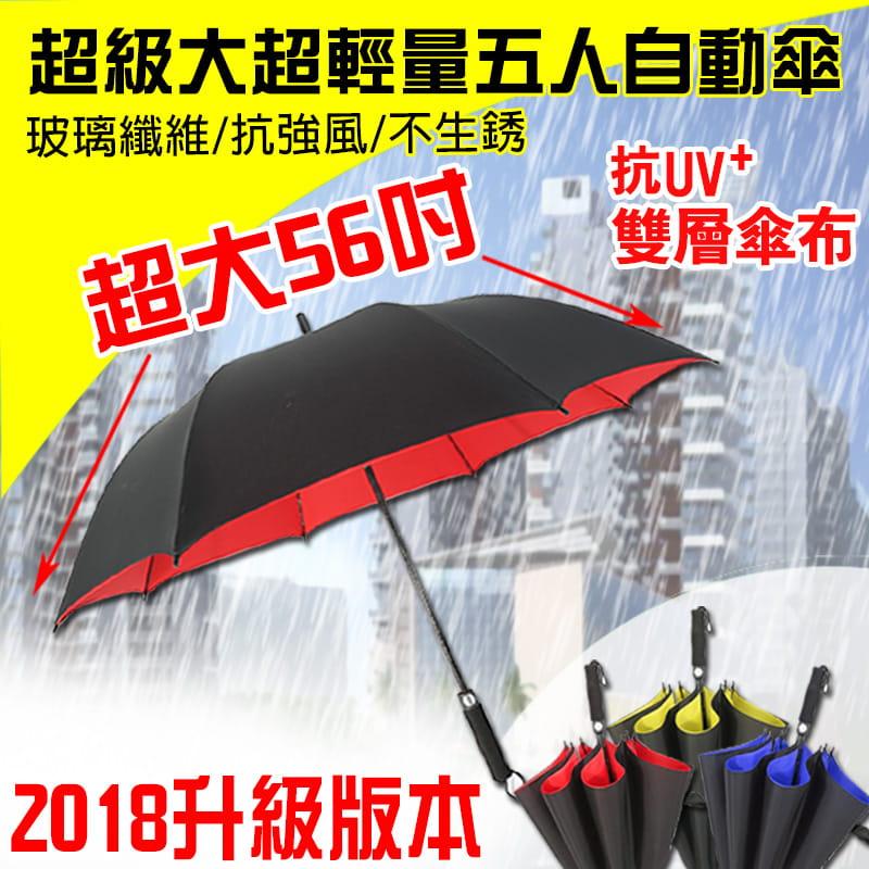 【TengYue】超級大商務自動開防風曬雨傘 0