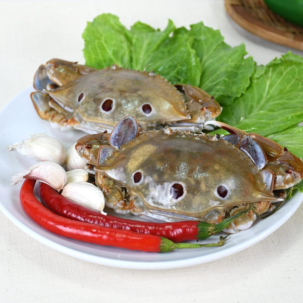 海港現撈活凍肥美三點蟹 (淨重330g+-10%/包) 1
