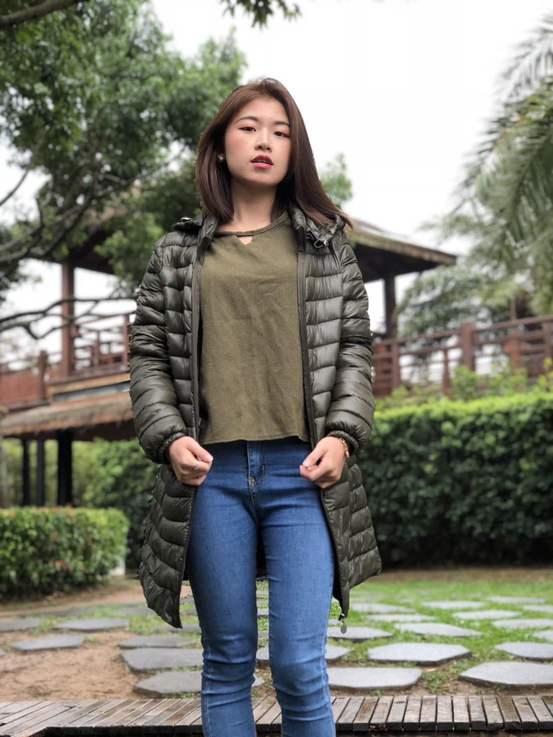 韓版修身羽絨輕薄款外套 2