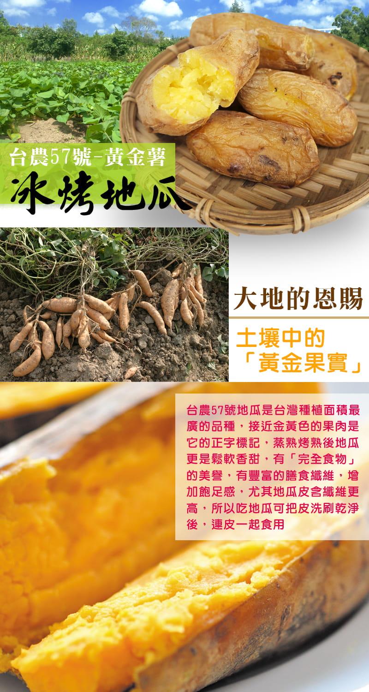 【老爸ㄟ廚房】台農57號冰烤地瓜(600g±10%/包) 1
