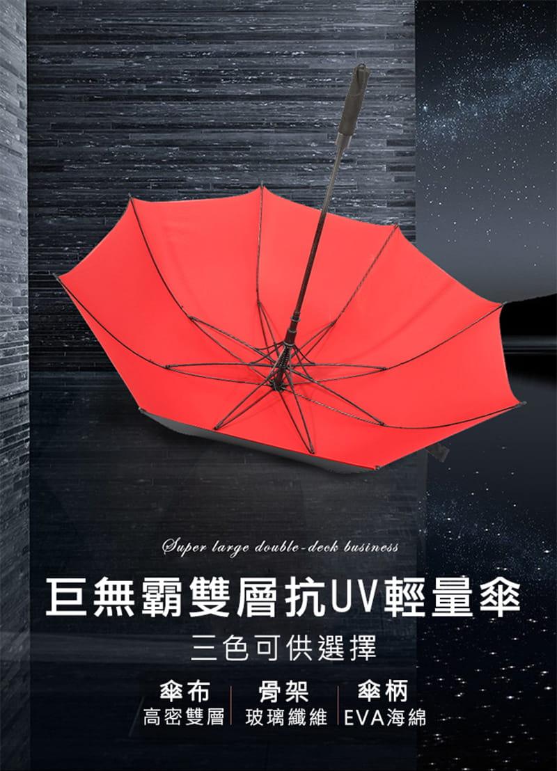 【TengYue】超級大商務自動開防風曬雨傘 1