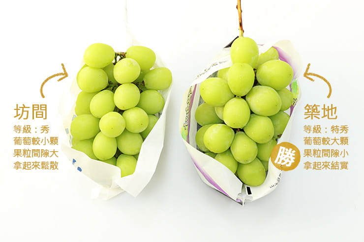 【築地一番鮮】日本空運頂級無籽麝香葡萄(約550g/串) 9