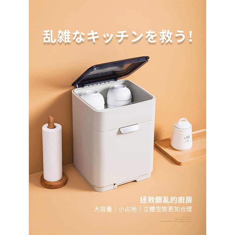 日本無印雙層碗盤瀝水架 6