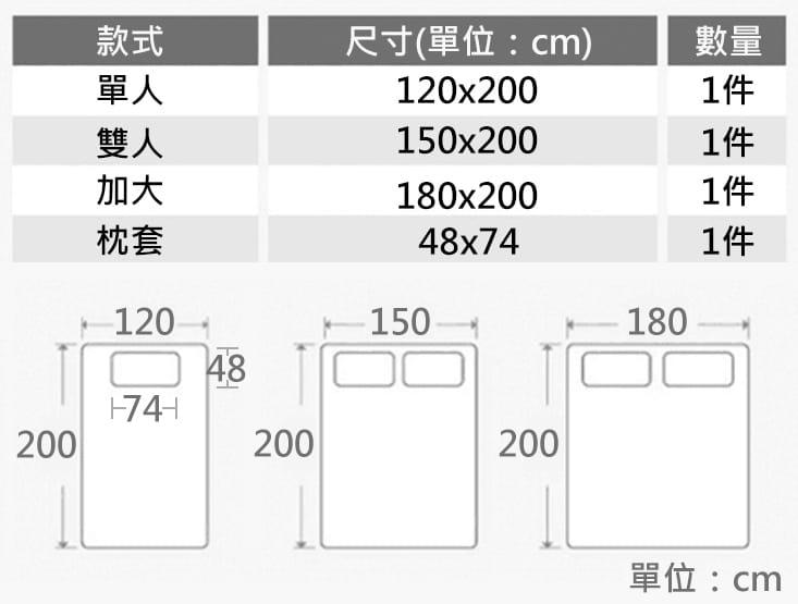 多用途防潑水保潔床包 10
