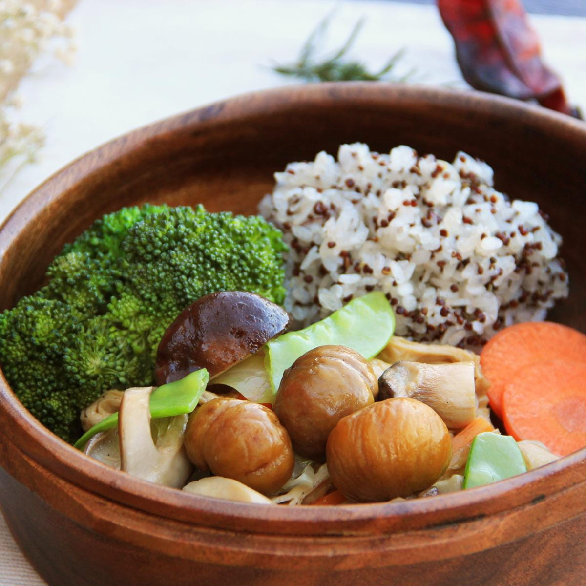 【原味時代】美味蔬食餐-和風栗子烤群菇 0