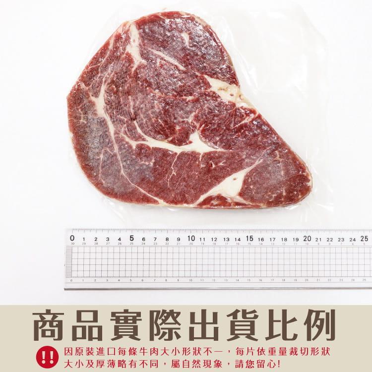 欣明◆美國安格斯雪花沙朗牛排~比臉大(450g/1片) 8