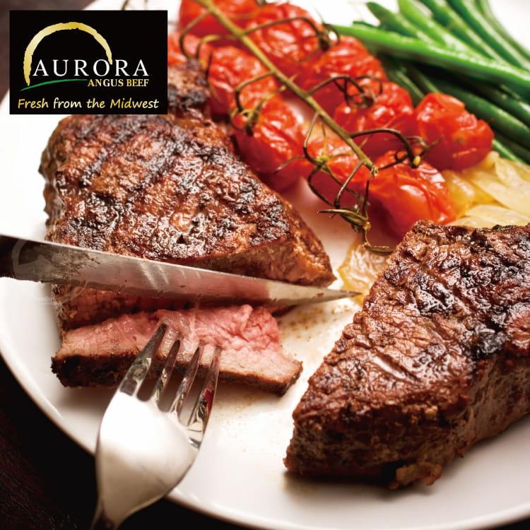 欣明◆美國奧羅拉極光黑牛PRIME厚切紐約克牛排(400g) 0