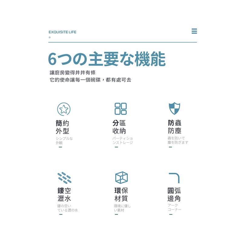 日本無印雙層碗盤瀝水架 2