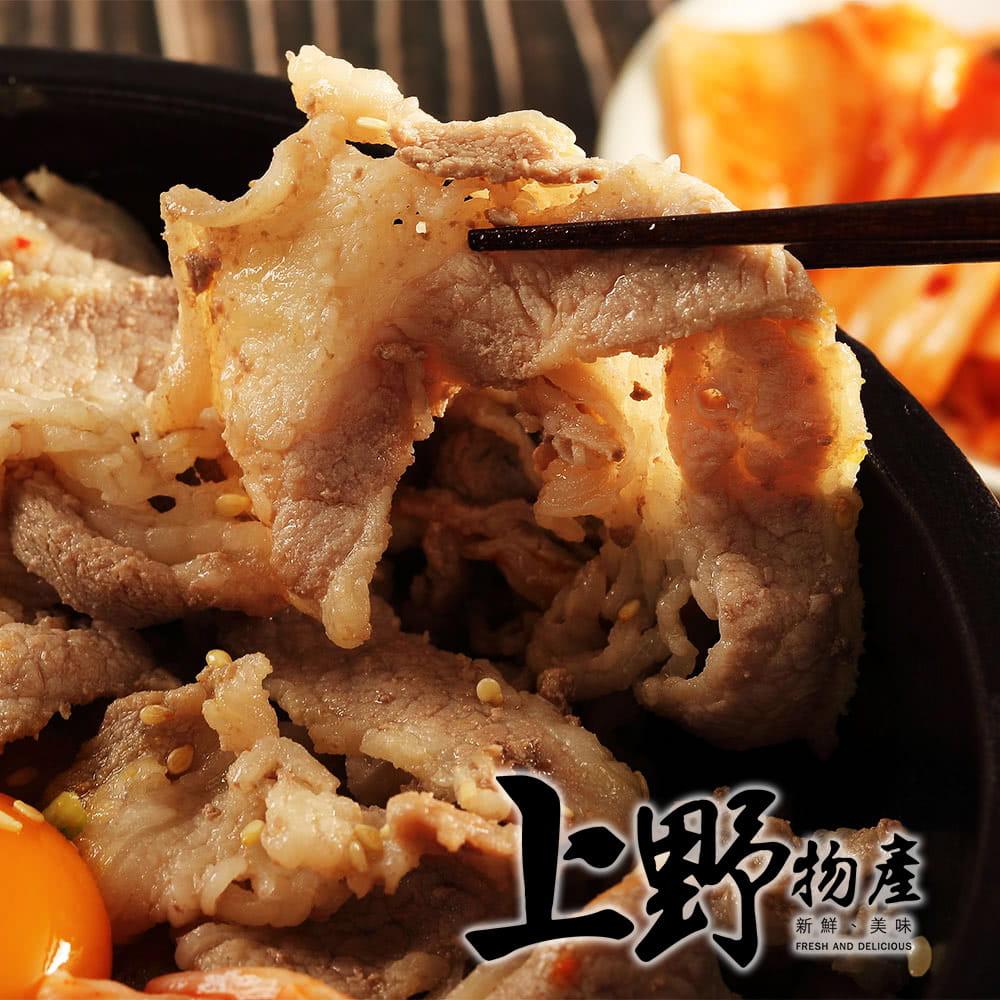 上野物產韓式燒烤豬五花(500g土10%/包) 0
