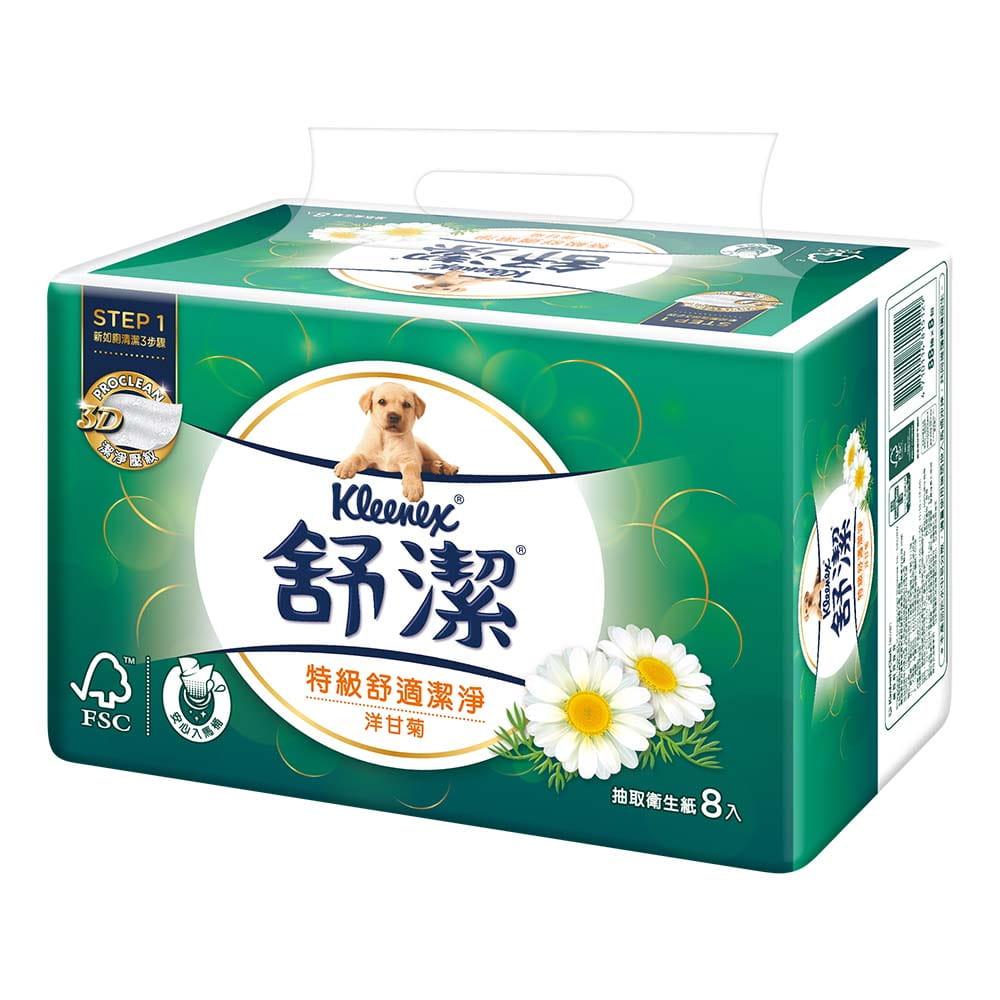 舒潔舒潔 舒適潔淨抽取衛生紙洋甘菊88抽(64包/箱) 0